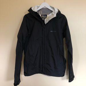 NEW Patagonia rain jacket coat black nylon light